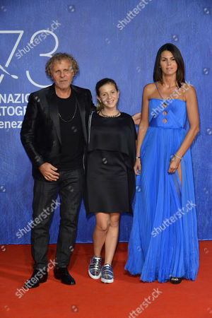 Renzo Rosso with daughter India and girlfriend Arianna Alessi