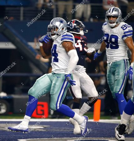Gavin Escobar, Darius Jackson Dallas Cowboys' Darius Jackson (34) finds the end zone on a running play for a touchdown against the Houston Texans in the first half of a preseason NFL football game, in Arlington, Texas. The Cowboys' Gavin Escobar, watches on the play