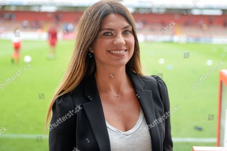 Sky Sports presenter  Bianca Westwood during the EFL Sky Bet League 2 match between Stevenage and Hartlepool United at the Lamex Stadium, Stevenage