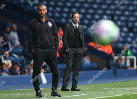 West Bromwich Albion irst team coach Ben Garner and Gianluca Zambrotta Manager of Delhi Dynamos during the International friendly match between West Bromwich Albion and Delhi Dynamos played at The Hawthorns, West Bromwich on 3rd September 2016