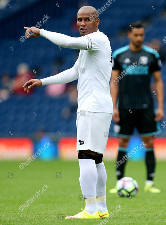 Stock Image of Florent Malouda of Delhi Dynamos during the International friendly match between West Bromwich Albion and Delhi Dynamos played at The Hawthorns, West Bromwich on 3rd September 2016