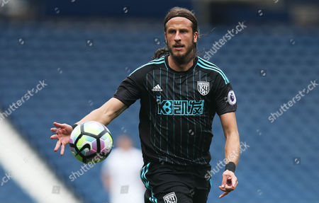 Jonas Olsson of West Bromwich Albion during the International friendly match between West Bromwich Albion and Delhi Dynamos played at The Hawthorns, West Bromwich on 3rd September 2016