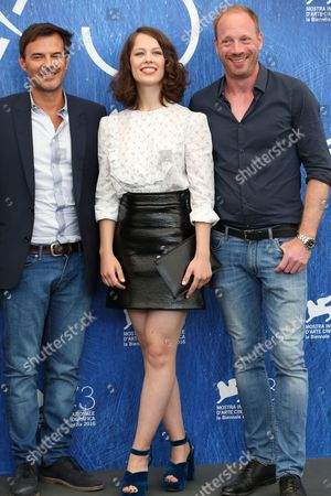 Stock Picture of Francois Ozon, Paula Beer and Johann Von Bulow