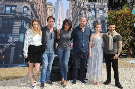 Christa Theret, Jerome Bonnell, Audrey Pulvar, Cedric Anger, Diane Rouxel and Kheiron