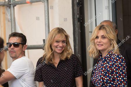 Katell Quillevere and Emmanuelle Seigner