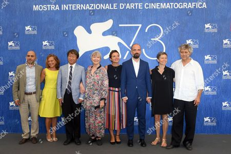 The Directors Massimo D'Anolfi and Martina Parenti, Marina Vlady, Shin Kubota, Felix Rohner, Sabina Scharer and la produttrice Paola Malanga