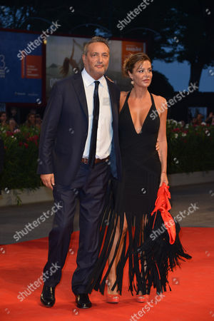 Stock Photo of Claudio Brachino and guest