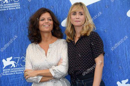 Director Katell Quillevere, Maylis de Kerangal the writer of the novel Maylis de Kerangal