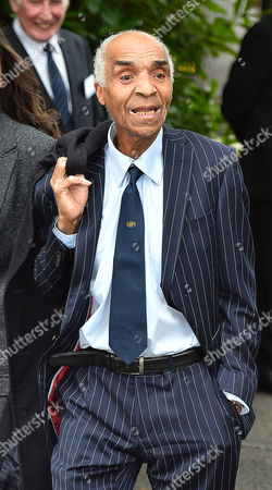Cilla Black's Funeral: Kenny Lynch Arrives At St.mary' Rc Church Woolton Liverpool Merseyside.