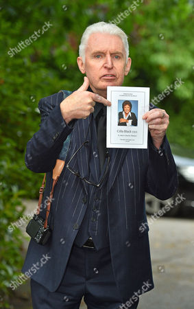 Cilla Black Funeral - Mike Mccartney Leaves St.mary' Rc Church Woolton Liverpool Merseyside. - 20/8/15.