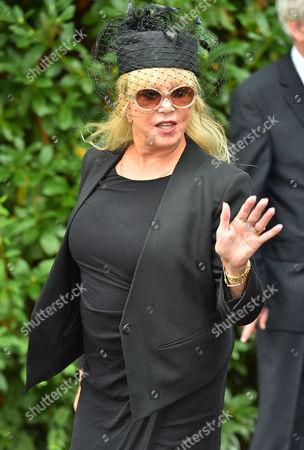 Cilla Black Funeral - Patti Boyd Arrives At St.mary' Rc Church Woolton Liverpool Merseyside.