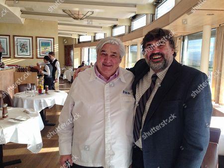 Martin Samuel Visits Fifa Restaurant Sonnenberg Where Sepp Blatter Would Often Dine. Martin With Chef Jacky Donatz.