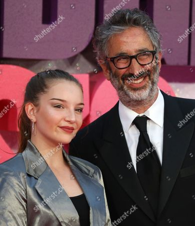 Dolly Loveday and David Baddiel