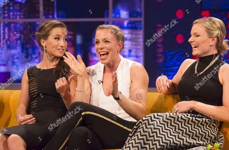 Maddie Hinch, Kate Richardson-Walsh and Hollie Webb