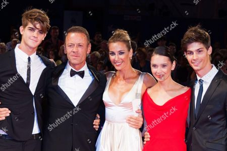 Rocco Siffredi, Rozsa Tassi and sons Lorenzo and Leonardo Siffredi
