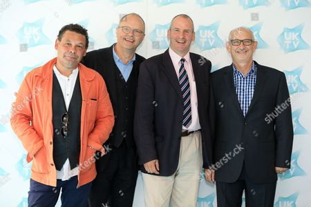 Craig Charles, Robert Lewellyn, Chris Barrie and Doug Naylor