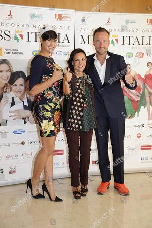 Alice Sabatini, Patrizia Mirigliani, Dj Francis