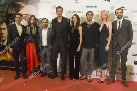 Victor Clavijo, Maria Valverde, Koldo Serra, James D'Arcy, Barbara Goenaga, Alex Garcia, Ingrid Garcia Jonsson and Julian Villagran