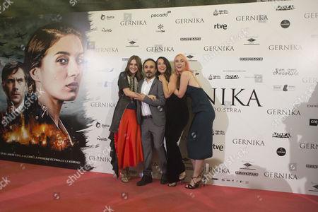 Barbara Goenaga, Koldo Serra, Ingrid Garcia Jonsson and Maria Valverde