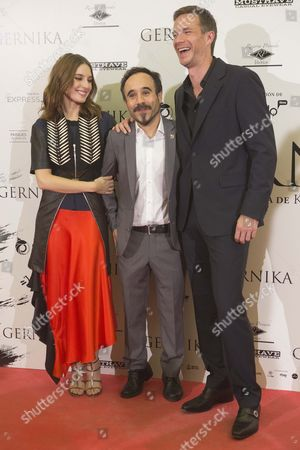 James D'Arcy, Koldo Serra and Maria Valverde