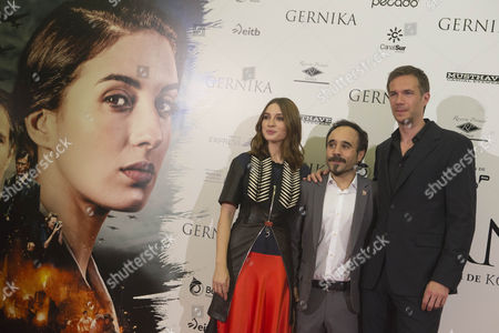 Stock Image of James D'Arcy, Koldo Serra and Maria Valverde