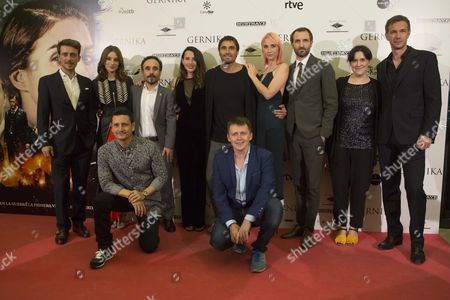 Stock Photo of Victor Clavijo, Maria Valverde, Koldo Serra, James D'Arcy, Barbara Goenaga, Alex Garcia, Ingrid Garcia Jonsson and Julian Villagran