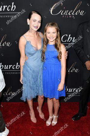 Britt Robertson and Natalie Coughlin