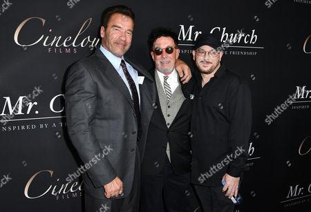 Arnold Schwarzenegger, Producer, Mark Canton and Producer, Courtney Solomon