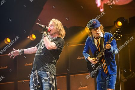 AC/DC - Angus Young and Axl Rose
