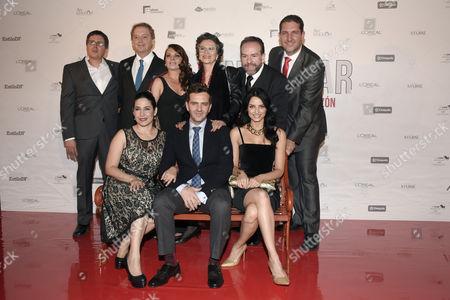 Marcelo Gonzalez, Iliana de la Garza, Patricia Reyes Espindola, Tiare Scanda, Flavio Medina and Aislinn Derbez