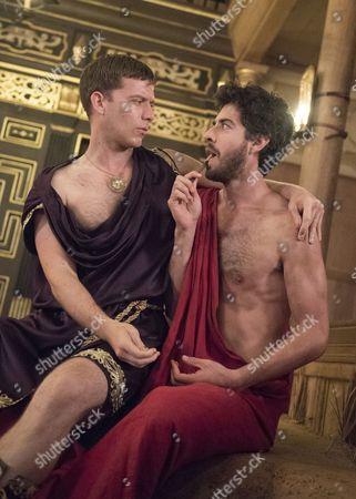 Philip Cumbus as Caligula, Matthew Romain as John