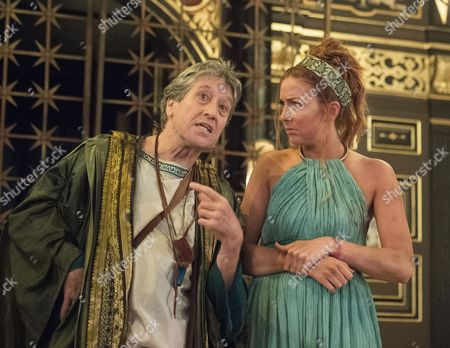 Stock Image of David Cardy as Thrysullus, Jessie Lilley as Helen,