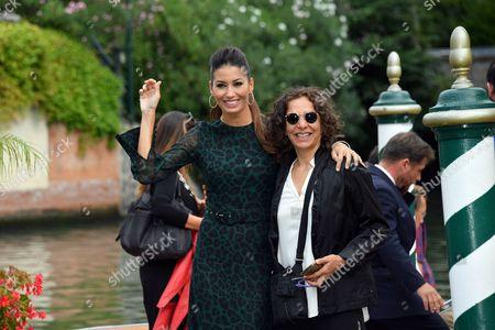 Stock Photo of Elisabetta Gregoraci with the director Rossana Patrizia Siclari