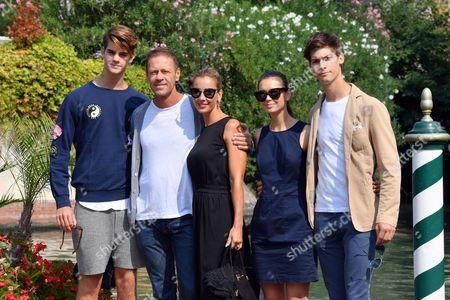 Rocco Siffredi with wife Rosa Caracciolo and sons Lorenzo Tano and Leonardo Tano