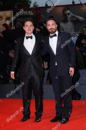 The director Pablo Larrain (right) with brother Juan de Dios Larrain producer