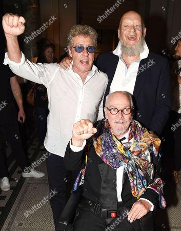 Stock Image of Roger Daltrey, Michael Eavis and Alan Aldridge