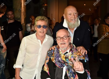 Roger Daltrey, Michael Eavis and Alan Aldridge