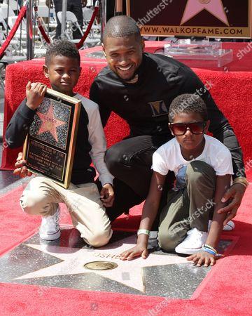 Usher, Naviyd Ely Raymond and Usher V