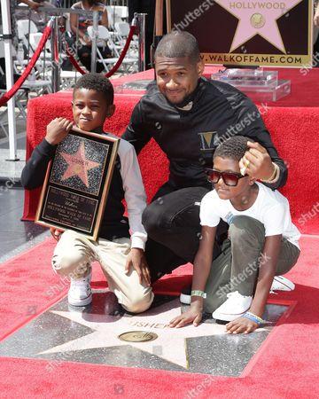 Stock Picture of Usher, Naviyd Ely Raymond and Usher V