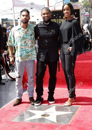 Miguel, Usher and Kelly Rowland