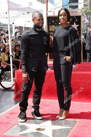Usher and Kelly Rowland