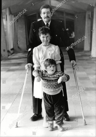 Child Of Achievement Awards. Pc John (jon) Gordon Who Lost Both Legs In The Ira Bombing Of Harrods Last Year With 4-year-old Dean Halliwell Who Proved The Doctors Wrong By Learning To Walk And Mandy Tiernan 9 Who Was Also Told She Would Never Walk Yet Has Recently Won A Tap-dancing Medal. Box 706 30308168 A.jpg.