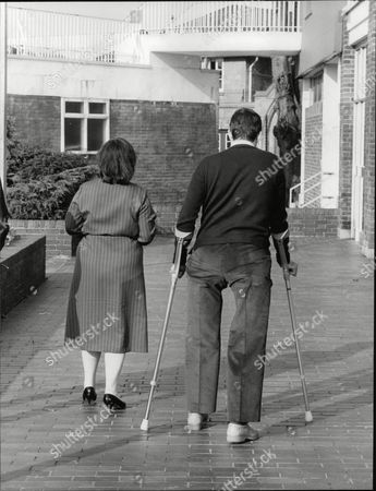 Pc John (jon) Gordon Who Lost Both Legs In The Ira Bombing Of Harrods Last Year With His Wife Sheila. He Recently Took His First Steps On His New Artificial Legs And Is Now Looking To Return To Work. Box 706 503081628 A.jpg.