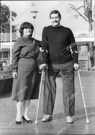 Pc John (jon) Gordon Who Lost Both Legs In The Ira Bombing Of Harrods Last Year With His Wife Sheila. He Recently Took His First Steps On His New Artificial Legs And Is Now Looking To Return To Work. Box 706 503081641 A.jpg.