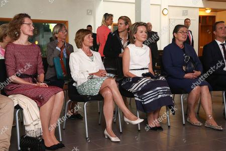 Princess Sophie of Isenburg von Wittelsbach, Mime Daniela Schadt, Queen Mathilde, Katharina Schneider-Ammann