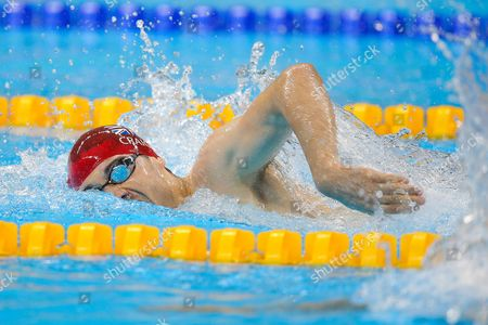 Stock Photo of Josef Craig of Great Britain competes in the Men's 400m Freestyle S8 Heat 1.