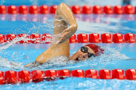 Stephanie Millward of Great Britain competes in the Women's 400m Freestyle S8 Heat 2.