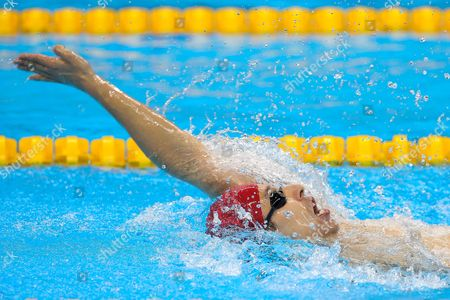 Stock Photo of Jonathan Fox of Great Britain competes in the Men's 100m Backstroke S7 Heat 2.