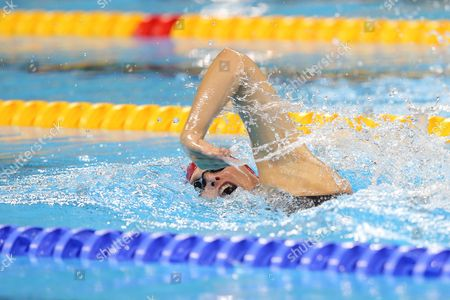 Stephanie Millward of Great Britain competes in the Women's 400m Freestyle S8 Final.