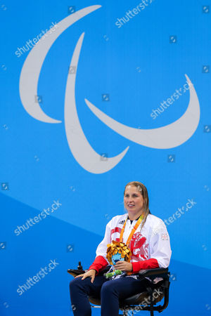 Olympic Aquatics Centre, Rio de Janeiro, Brazil -Stephanie Millward of Great Britain finishes with the Bronze Medal in the Women's 400m Freestyle S8 Final.